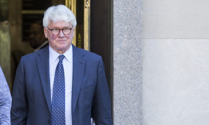 Gregory Craig, former White House counsel to former President Barack Obama departs from the U.S. District Courthouse following a hearing on April 15, 2019. (Zach Gibson/Getty Images)