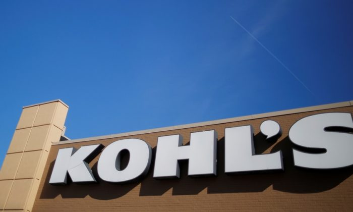A sign marks a Kohl's store in Medford, Mass., on Feb. 21, 2017. (Brian Snyder/Reuters)