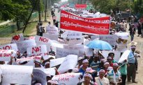 Burmese Locals Stage Protest Against Chinese-Backed Dam Project