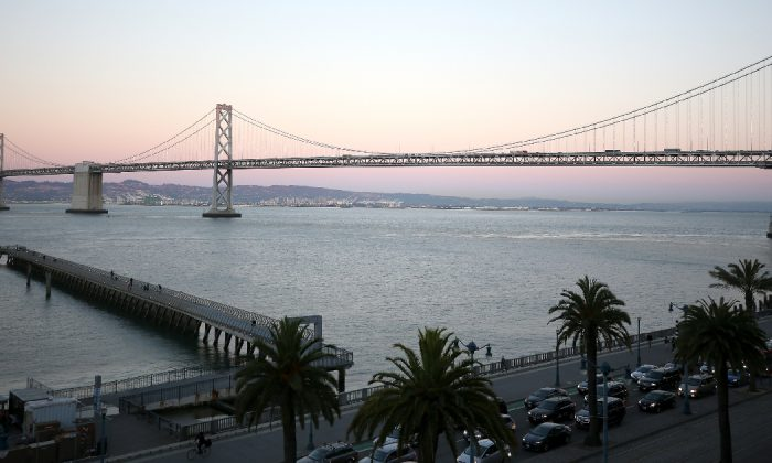 The Bay Bridge is seen at WIRED25 Work: Inside San Francisco's Most Innovative Workplaces on October 12, 2018 in San Francisco, Calif. (Phillip Faraone/Getty Images for WIRED25 )