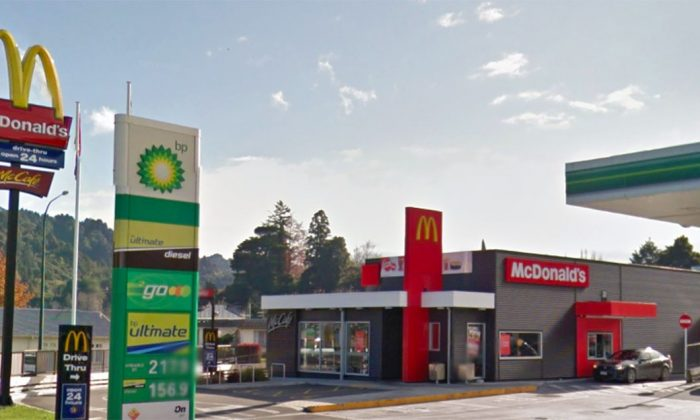 The entrance to McDonald's family restaurant in Taumarunui, New Zealand, in May 2012. (Screenshot/Google Maps)