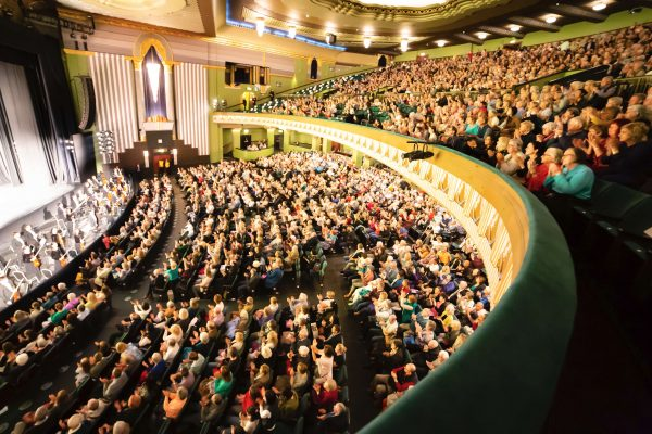 The audience at Shen Yun's evening performance at the Eventim Apollo