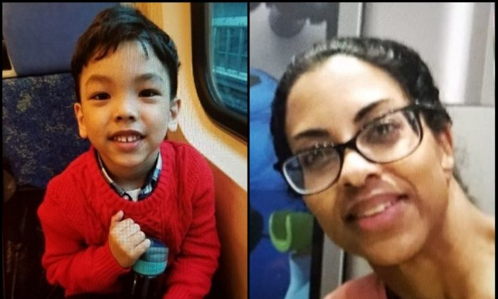 An Amber Alert was issued for 5-year-old Ethan Montes (L) and his mother Juliet Mohammed on April 25, 2019. (Peel Regional Police)