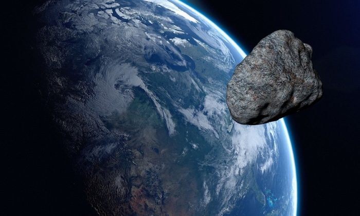 Graphical image of an asteroid about to hit earth. (Urikyo33/Pixabay)