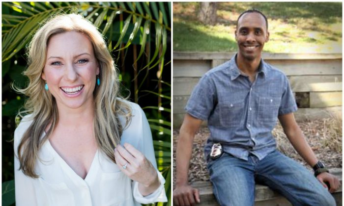 Justine Damond (L), also known as Justine Ruszczyk, from Sydney. (Stephen Govel Photography/Handout via Reuters); Minneapolis Police Department Officer Mohamed Noor. (City of Minneapolis Ward 8 Update Newsletter)