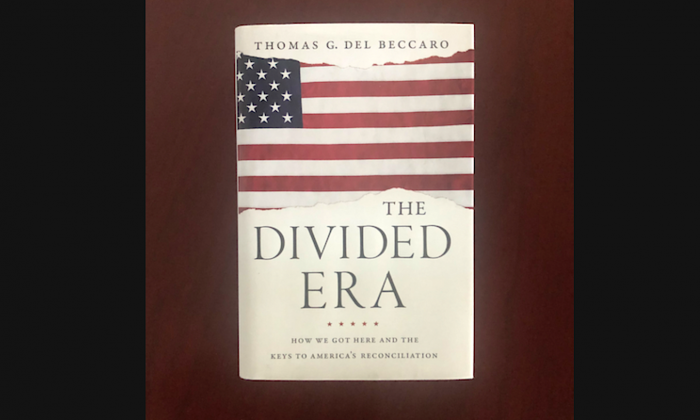 The book The Divided Era, written by Thomas G. Del Beccaro. (Nathan Su/The Epoch Times)