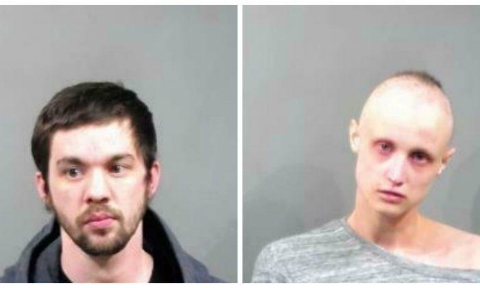 Patrick Javonovich(L) 28-year-old  ;Brandi Marchant(R) 22-year-old (Sedgwick County Sheriff via AP)