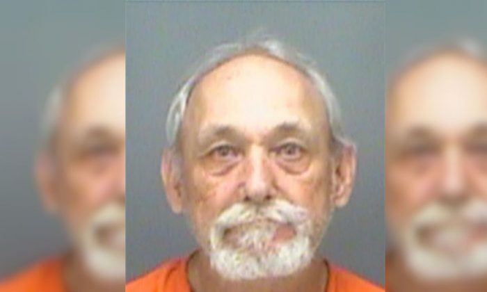 Richard Lawrence Goodwin was arrested for allegedly neglecting a 67-year-old bedridden woman at a home in Dunedin, Florida. (Pinellas County Sheriff's Office)
