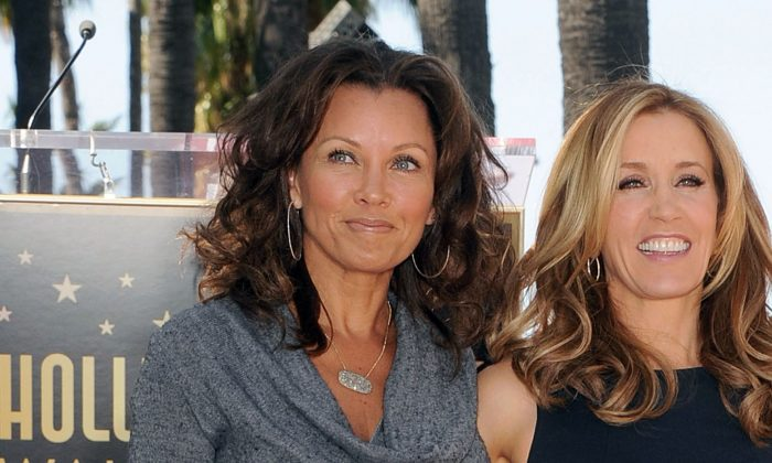 Actresses Vanessa Williams (L) and Felicity Huffman at the Hollywood Walk Of Fame in Los Angeles, Calif., on March 7, 2012. (Jason Merritt/Getty Images)