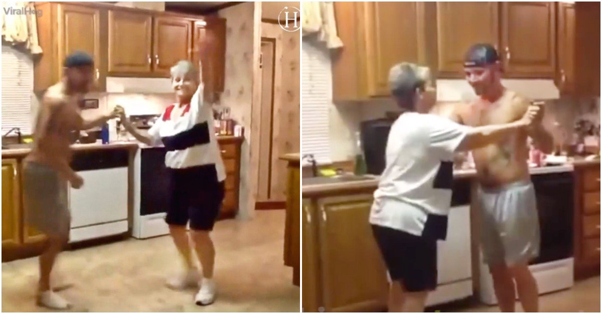 Son Grabs Mom's Hand as Their Favorite Song Comes on - Now Watch the Dance That Lights up the Internet