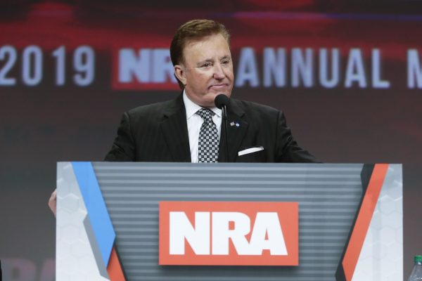 National Rifle Association first vice president Richard Childress chairs the NRA Annual Meeting of Members