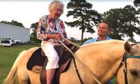 Video: To Fulfill Childhood Dream, 102-Year-Old-Grandma Saddles up for a Horseback Ride