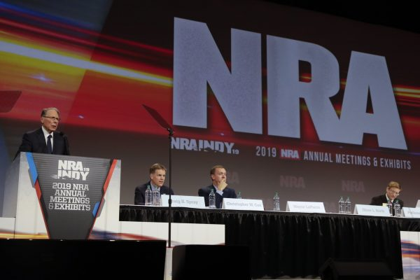 National Rifle Association Executive Vice President Wayne LaPierre speaks at the NRA Annual Meeting of Members