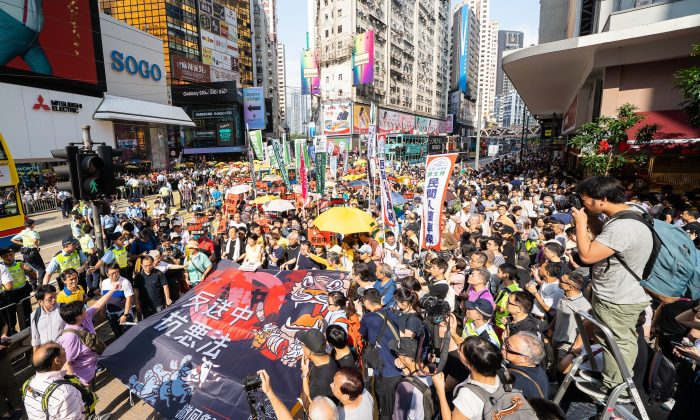 The Hong Kong grand parade to oppose the extradition law on April 28, 2019. (Poon Zoi-Syu/The Epoch Times)