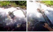 In Shocking Video, Man Attempts To Save Friend From Rapids