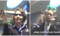 Passengers Can't Stop Cracking up After Flight Attendant Picks up the Intercom