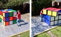 Video: Man Solves World's Largest Rubik's Cube That Weighs 220 Pounds