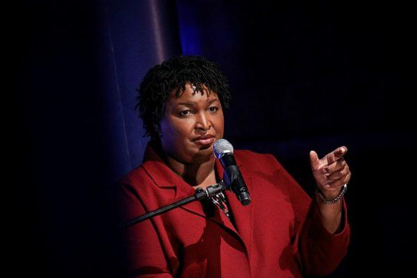 Former Georgia gubernatorial candidate Stacey Abrams speaks