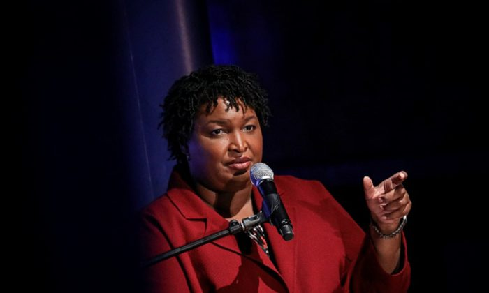 Former Georgia gubernatorial candidate Stacey Abrams speaks during a conversation about criminal justice reform at the New York Public Library in New York City, on April 10, 2019.  ( Drew Angerer/Getty Images)