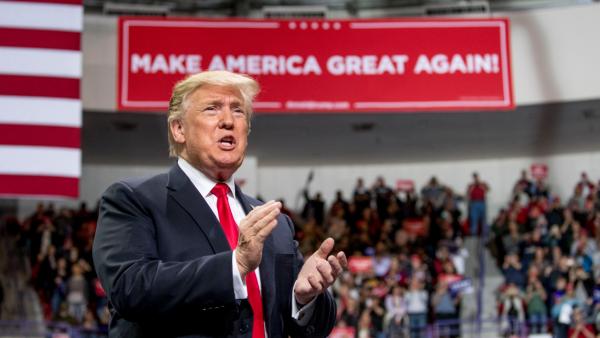 Trump announcement at MAGA rally