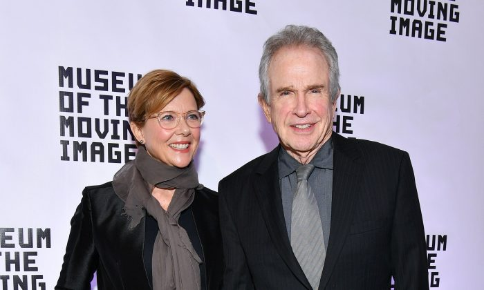 Annette Bening (L) and Warren Beatty attend the Museum of the Moving Image Salute to Annette Bening at 583 Park Avenue on December 13, 2017 in New York City.  (Photo by Dia Dipasupil/Getty Images)