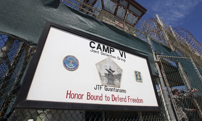 The entrance to Camp VI, a prison used to house detainees at the U.S. Naval Base at Guantanamo Bay, Cuba, on March 5, 2013. (Bob Strong/Reuters)