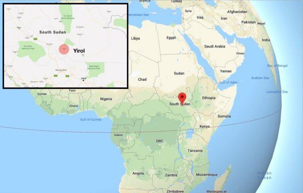 map of Yirol south sudan
