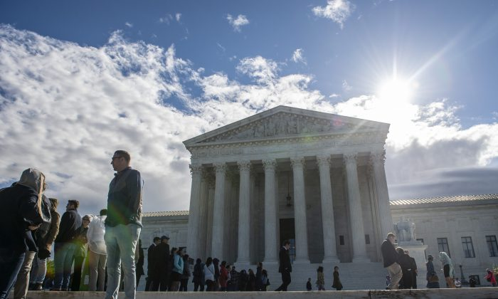 The Supreme Court building in Washington on April 15, 2019.  (ERIC BARADAT/AFP/Getty Images)