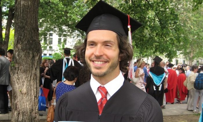 Enrico Quilico after earning his master's degree from McGill University in 2015. (Courtesy of Enrico Quilico)