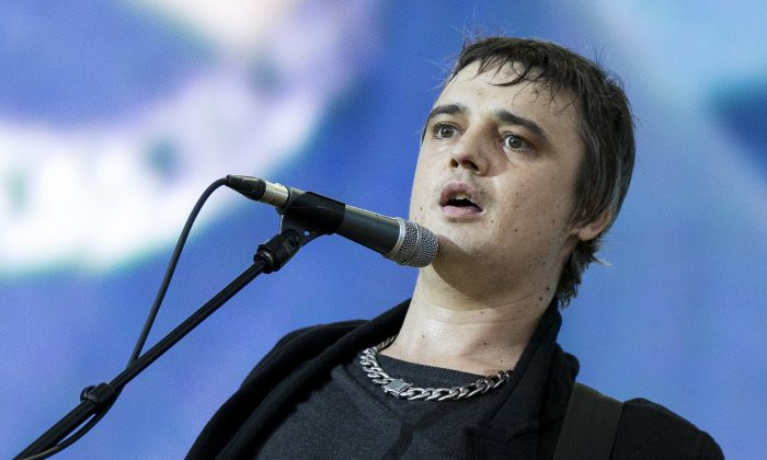 Pete Doherty, then of The Libertines, performs on stage at British Summer Time Festival at Hyde Park in London, United Kingdom, on July 5, 2014. (Tristan Fewings/Getty Images)