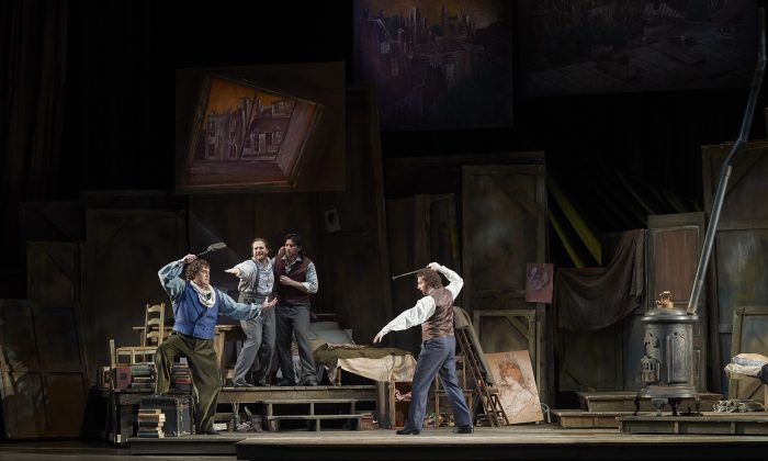 A scene from the Canadian Opera Company's production of La Bohème, 2019.  (Michael Cooper)