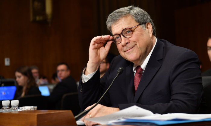 Attorney General William Barr testifies before the Senate Judiciary Committee on Capitol Hill in Washington on May 1, 2019. (Nicholas Kamm/AFP/Getty Images)