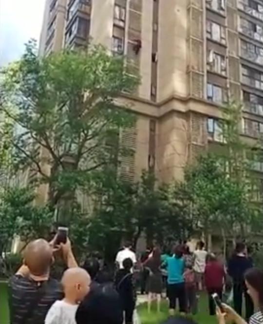 Woman building climb