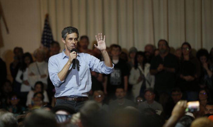 Democratic presidential candidate and former U.S. Rep. Beto O'Rourke (D-TX) speaks at a campaign town hall at the Irish Cultural Center on April 28, 2019 in San Francisco, California. Stephen Lam/Getty Images