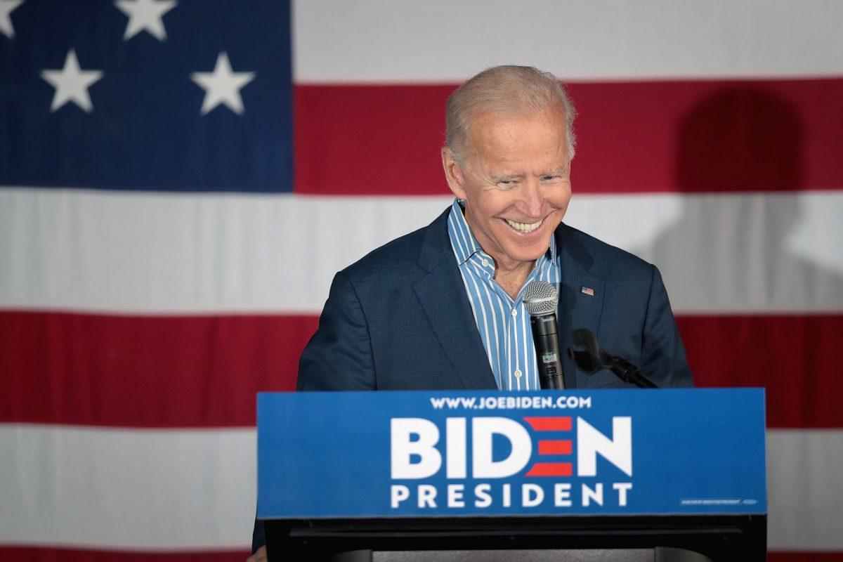 Joe Biden campaigning in Iowa