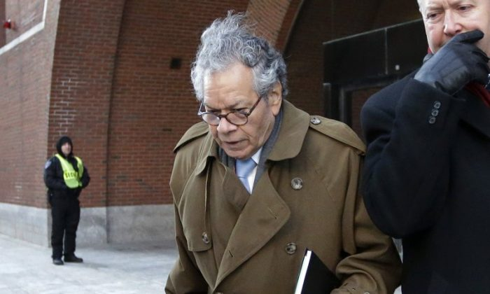 Insys Therapeutics founder John Kapoor leaves federal court in Boston, on Jan. 30, 2019. (Steven Senne/AP Photo)