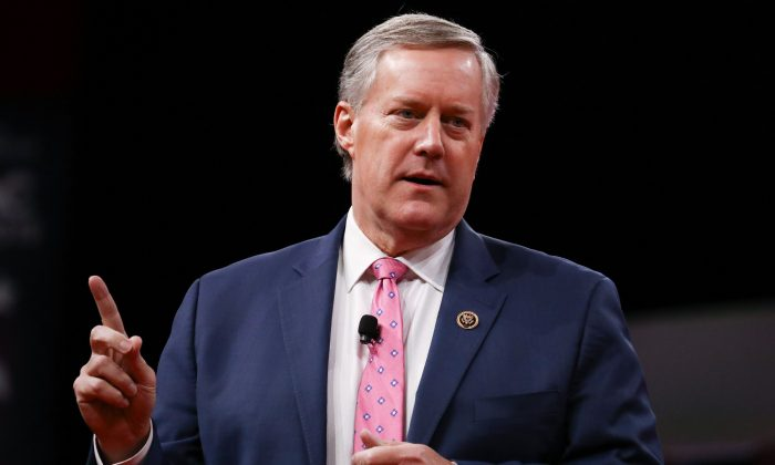 Rep. Mark Meadows (R-N.C.) at the CPAC convention in National Harbor, Md., on Feb. 28, 2019. (Charlotte Cuthbertson/The Epoch Times)