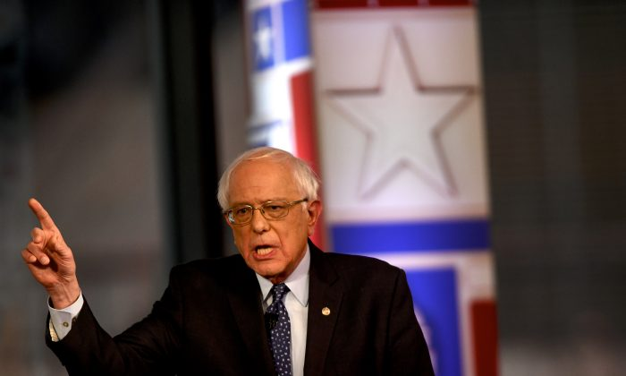 Democratic presidential candidate Sen. Bernie Sanders (I-Vt.) participates in a FOX News Town Hall at SteelStacks in Bethlehem, Pennsylvania on April 15, 2019. (Mark Makela/Getty Images)