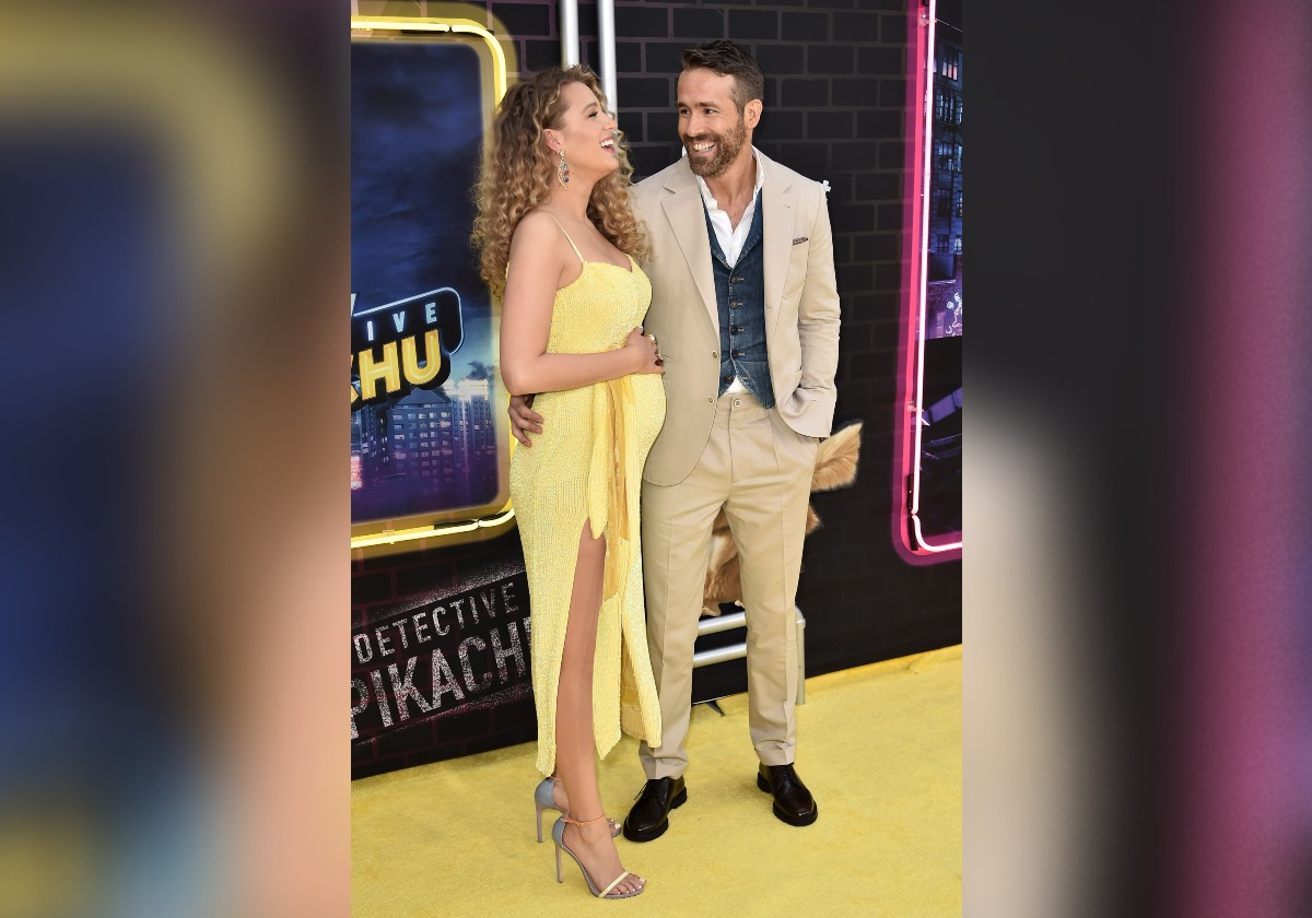 blake lively and ryan reynolds at pikachu
