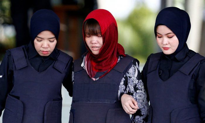 Vietnamese Doan Thi Huong, who was a suspect in the murder case of North Korean leader's half brother Kim Jong Nam, leaves the Shah Alam High Court on the outskirts of Kuala Lumpur, Malaysia March 14, 2019. (Lai Seng Sin/Reuters)
