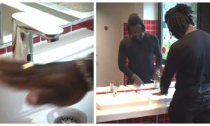 Video: Man Tries to Wash Hands, but Automatic Water Tap Doesn't Work on His Dark Skin