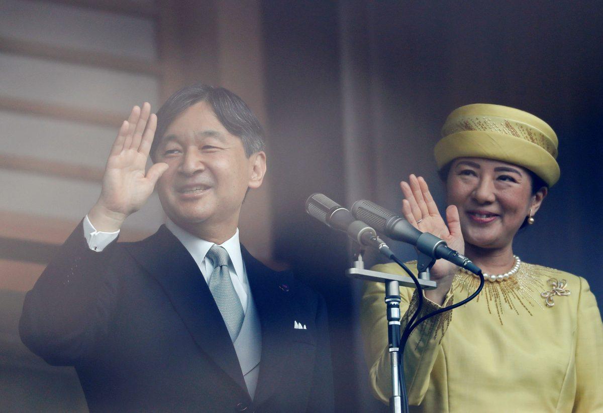 Japan's Emperor Naruhito and Empress Masako