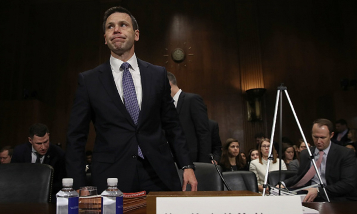 Kevin K. McAleenan, commissioner of U.S. Customs and Border Protection, arrives to testify before the Senate Judiciary Committee in Washington, on March 6, 2019 .(Win McNamee/Getty Images)