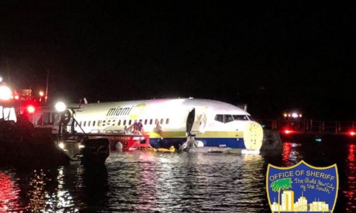 Photo of the plane that flew into the river. (Jacksonville Sheriff's office)