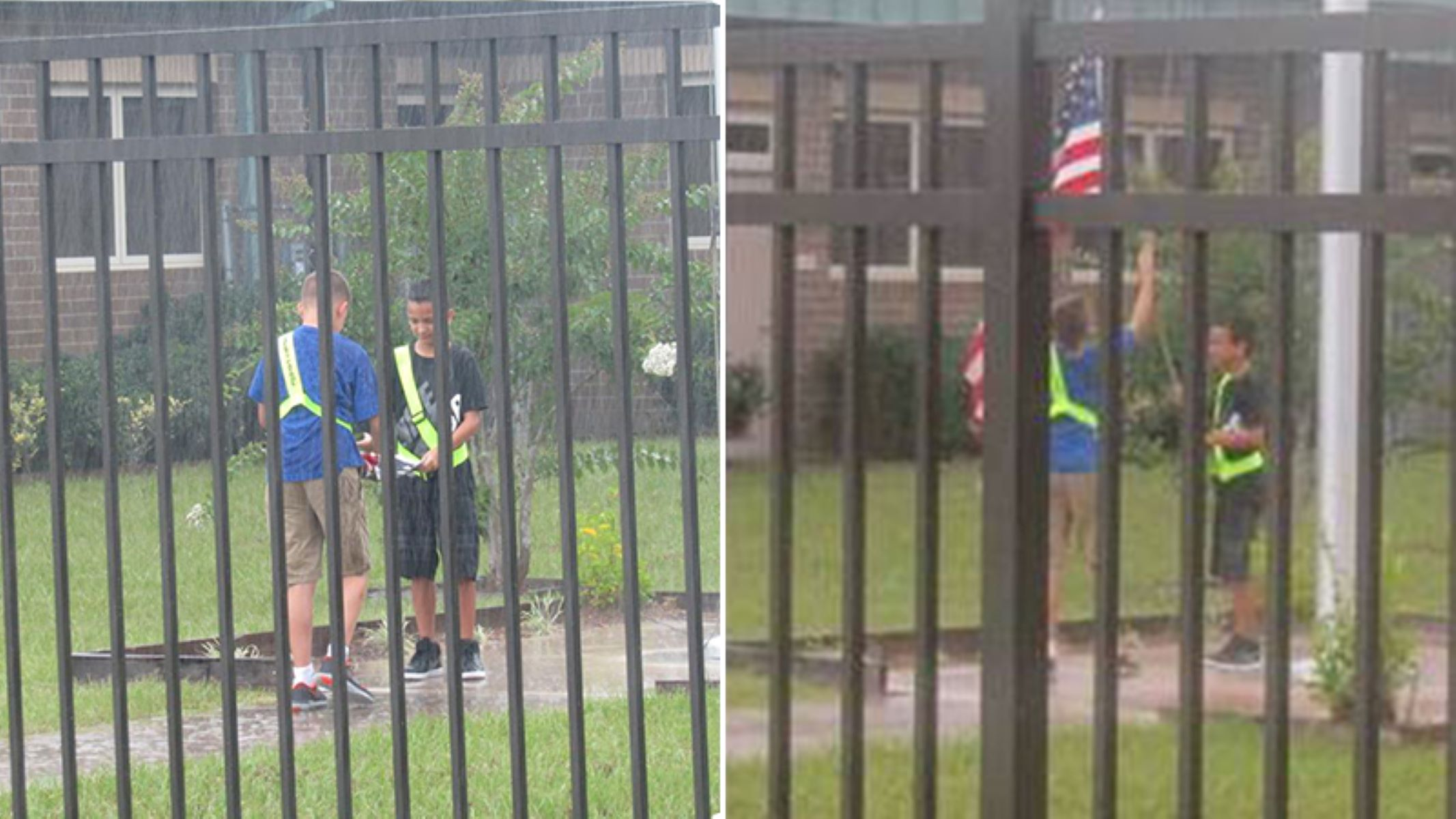 These Students Thought No One Saw Them in Pouring Rain. But Teacher Quietly Captured Their Whole Act