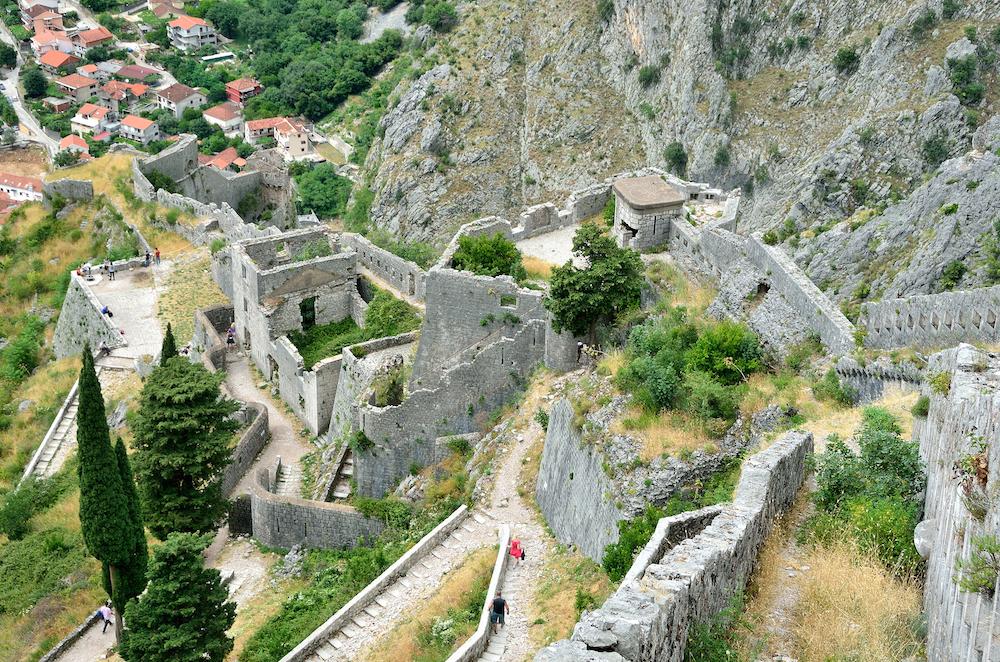 Fortifications in Kotor Bay Montenegro