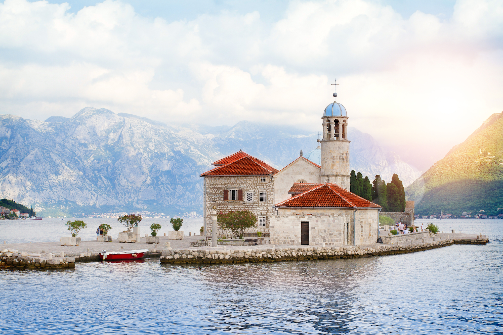 our lady of the rocks church in montenegro