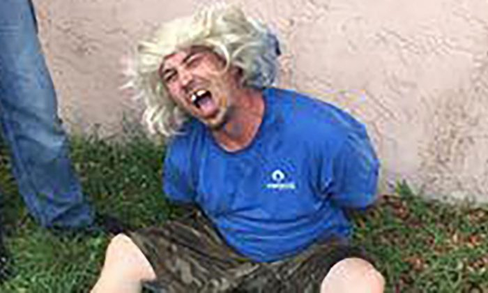 "Bobby Walls was arrested on several charges while wearing a ""hideous"" wig ((Brevard County Sheriff's Office))"