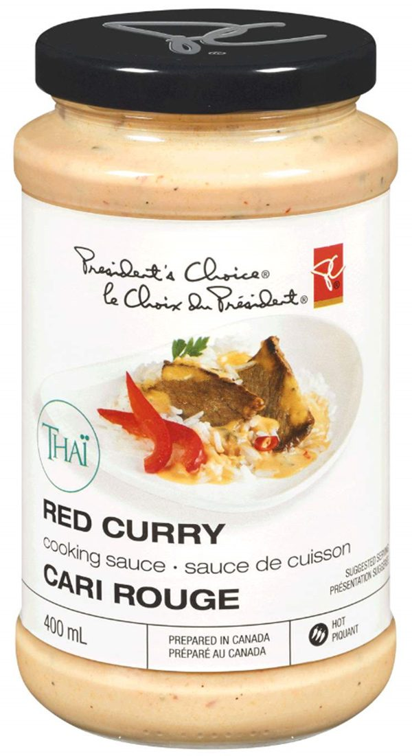 A recall warning was issued for. President's Choice Thai Red Curry Cooking Sauce on May 3, 2019. (Canadian Food Inspection Agency)
