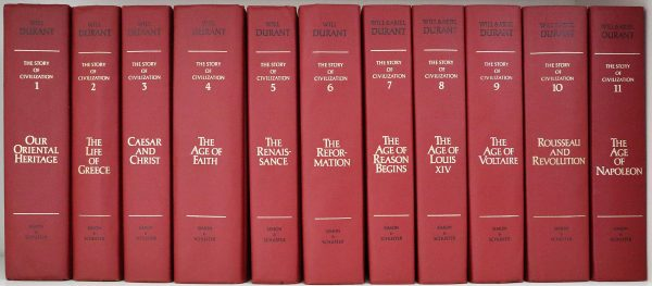 The_collection_of_11_volumes_of_the_Story_of_Civilization_by_Will_and_Ariel_Durant